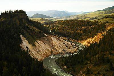 The Winding Yellowstone Print by Jeff Swan
