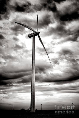 Wind Turbines Photograph - The Windmaster by Olivier Le Queinec