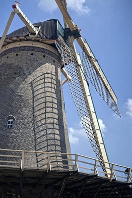 Photograph - The Windmill Of Haarlem. Netherlands by Jenny Rainbow