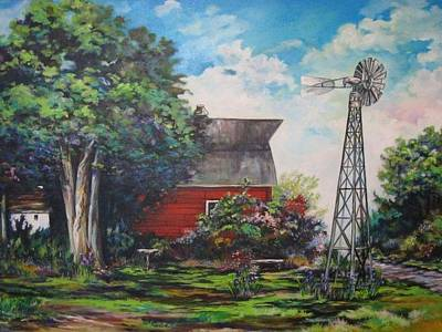 Painting - The Windmill Of The Garden by Kendra Sorum