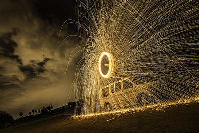 Photograph - The Windmill Steel Wool by Israel Marino