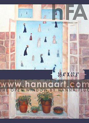 The Window Art Print by Hanna Fluk