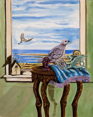 Chess Pieces Painting - The Window Has A View by Susan Culver