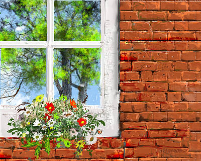 The Window Triptych Summer Art Print by Jim Hubbard