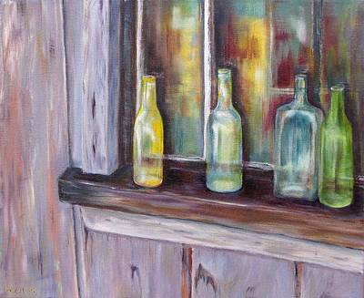 Art Print featuring the painting The Windowsill by Diane Daigle