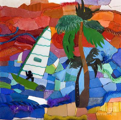 Windsurfer Mixed Media - The Windsurfer by Nicola Scott-Taylor
