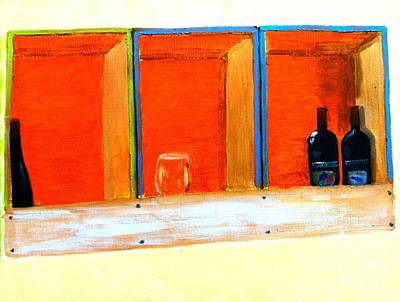 Box Wine Painting - The Winebox by Israel  A Torres