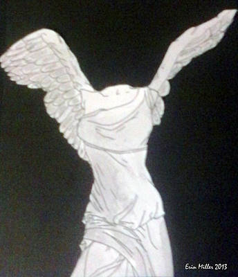 The Winged Victory Of Samothrace Art Print by Erin Miller