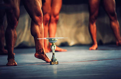 Photograph - The Winner. Bodybuilding by Jenny Rainbow
