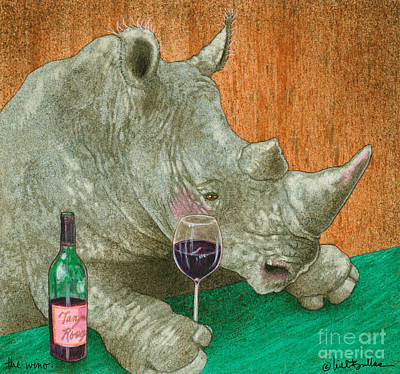 Rhino Painting - The Wino... by Will Bullas