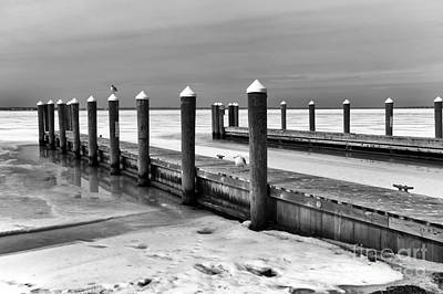 Photograph - The Winter Dock Mono by John Rizzuto