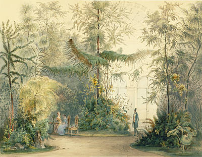 Hothouses Painting - The Winter Garden Of The Hofburg by Austrian School
