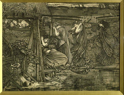 Oil Lamp Photograph - The Wise And Foolish Virgins Etching by Sir Edward Coley Burne-Jones