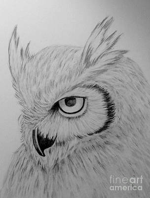 Drawing - The Wise One by Peggy Miller