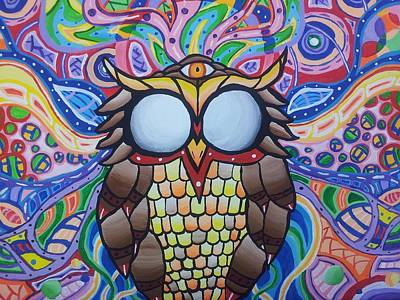 The Wise Owl Art Print by Tyler Chewning