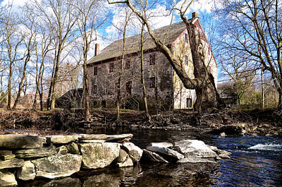 Mather Digital Art - The Wissahickon Creek And Mather Mill by Bill Cannon