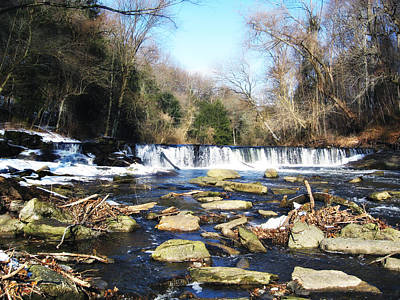 The Wissahickon Creek In February Print by Bill Cannon