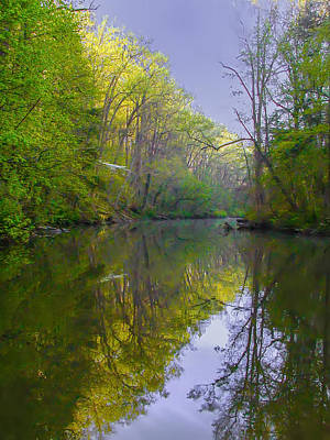 Valley Photograph - The Wissahickon Creek In The Morning by Bill Cannon