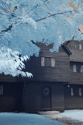 Photograph - The Witch House In Infrared by Jeff Folger