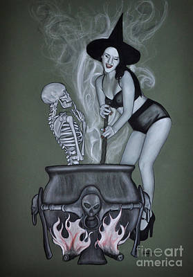 Drawing - The Witches Brew by Joe Dragt