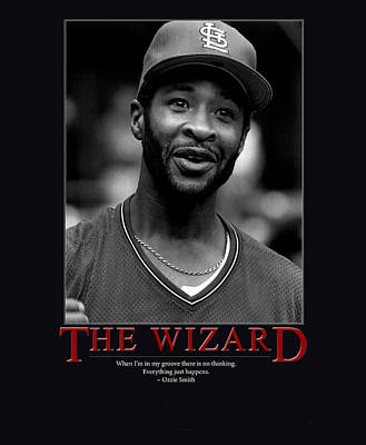 Shortstop Photograph - The Wizard Ozzie Smith by Retro Images Archive