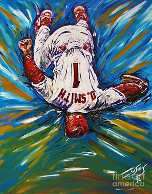 Baseball Hall Of Fame Painting - The Wizzard by Ian Sikes