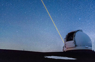 Photograph - The Wm Keck Observatory 1 by Jason Chu