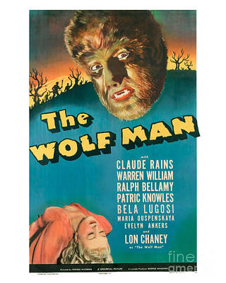 The Wolf Man Movie Poster Art Print by MMG Archive Prints