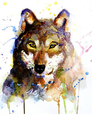 Painting - The Wolf by Steven Ponsford