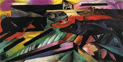 Balkan Painting - The Wolves Balkan War 1913 by Franz Marc