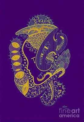 The Woman 4 Multi Color Art Print
