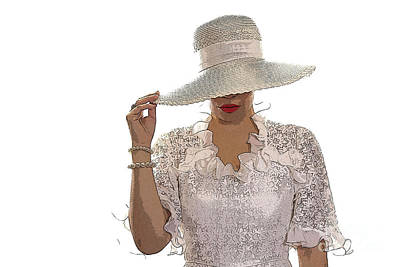 The Woman And Hat Original