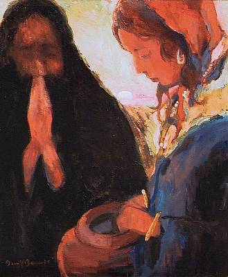 Painting - The Woman At The Well by Daniel Bonnell