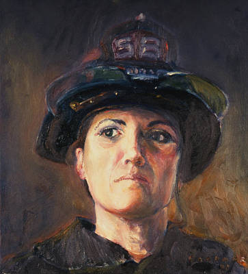 New Training Painting - The Woman From Engine 58 by Jesse Gardner