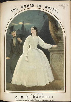 Man In The Moon Photograph - The Woman In White by British Library