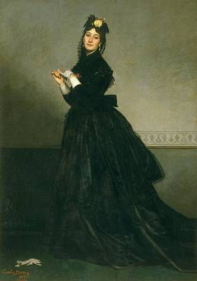 Duran Duran Photograph - The Woman With The Glove, 1869 Oil On Canvas by Charles Emile Auguste Carolus-Duran