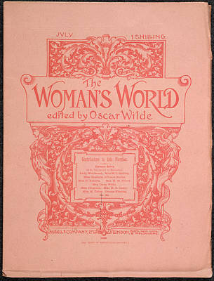 Wilde Photograph - The Woman's World Front Cover by British Library