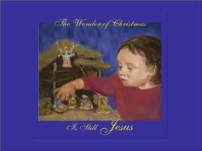 The Wonder Of Christmas Art Print by Harriett Masterson
