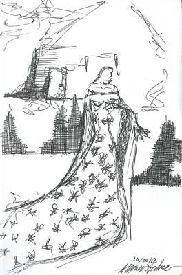 The Wondering Maiden Art Print by Allyson Andrewz