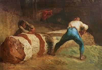 The Wood Sawyers, 1848 Art Print