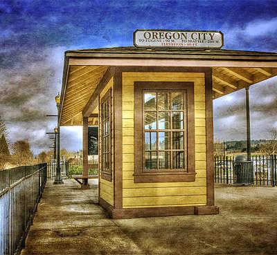 Photograph - The Oregon City Train Depot by Thom Zehrfeld