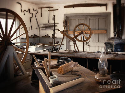 Photograph - The Wood Workers Shop by Lee Craig