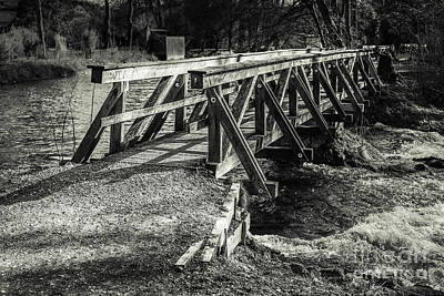 The Wooden Bridge Art Print by Hannes Cmarits