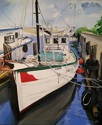 Painting - The Wooden Work Boats by John  Duplantis