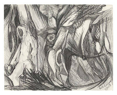 Drawing - The Woods by Ruth Renshaw