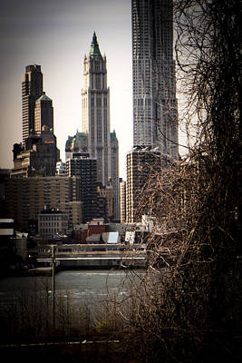 Photograph - The Woolworth Building Vignette by Frank Winters