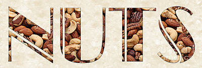 Snack Mixed Media - The Word Is Nuts by Andee Design