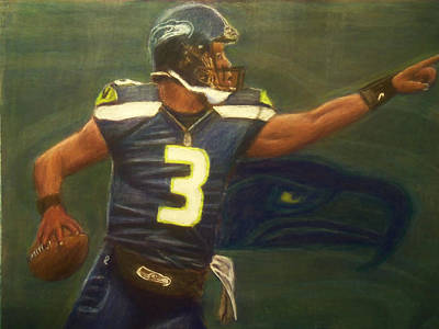 The Word Is Out Feat Russell Wilson Art Print by D Rogale