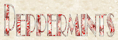 Photograph - The Word Is Peppermints by Andee Design