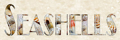 Photograph - The Word Is Seashells by Andee Design